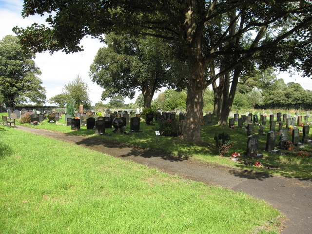 File:Graveyard of Christ Church, Rossett - geograph.org.uk - 1469774.jpg
