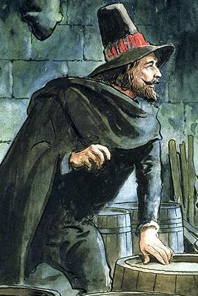 http://www.bridgemanartondemand.com/art/86985/Guy_Fawkes_from_Peeps_into_the_Past_published_c1900