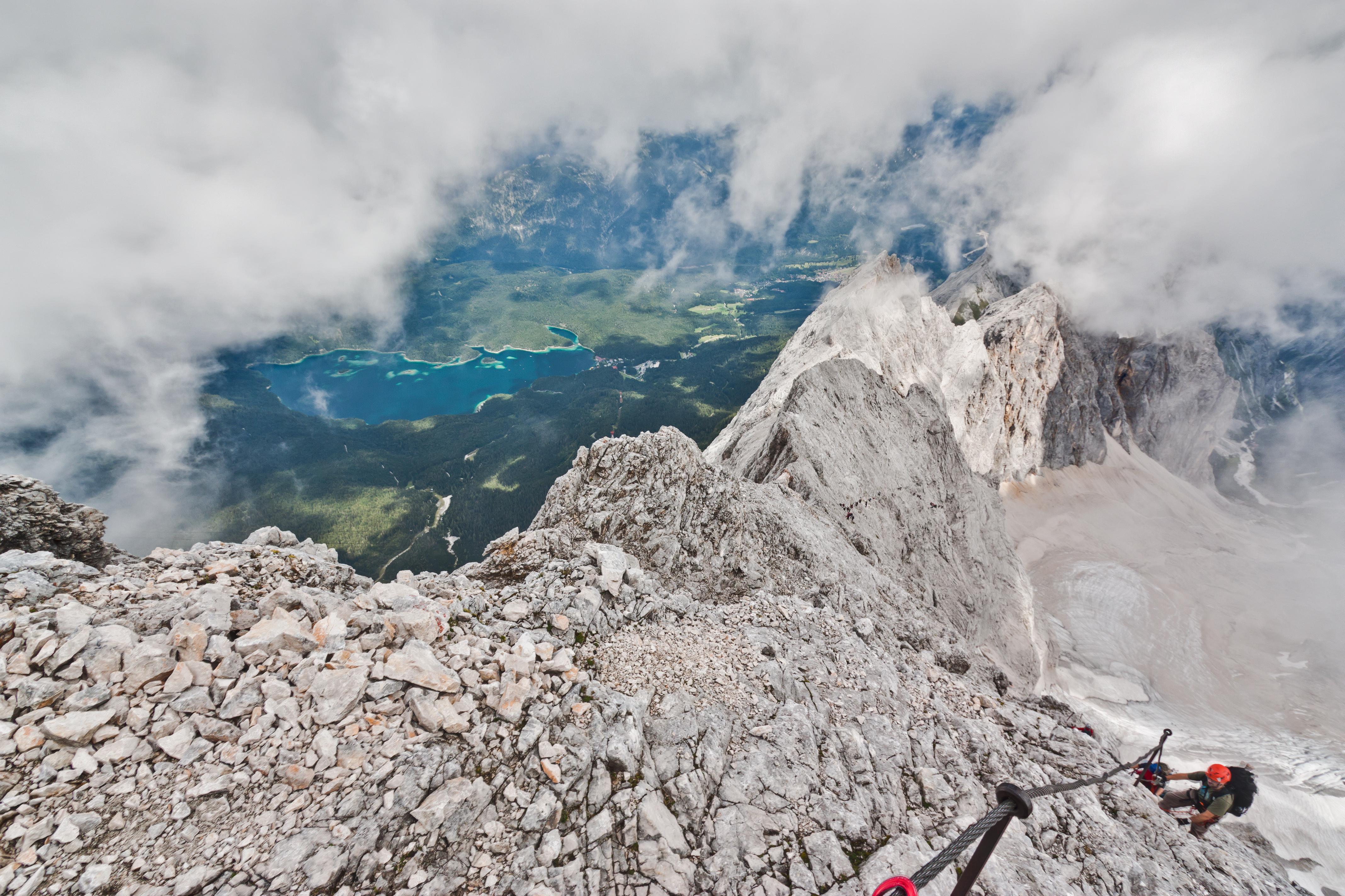 Klettersteig Zugspitze Höllental : Datei:höllental klettersteig zugspitze eibsee.jpg u2013 wikipedia
