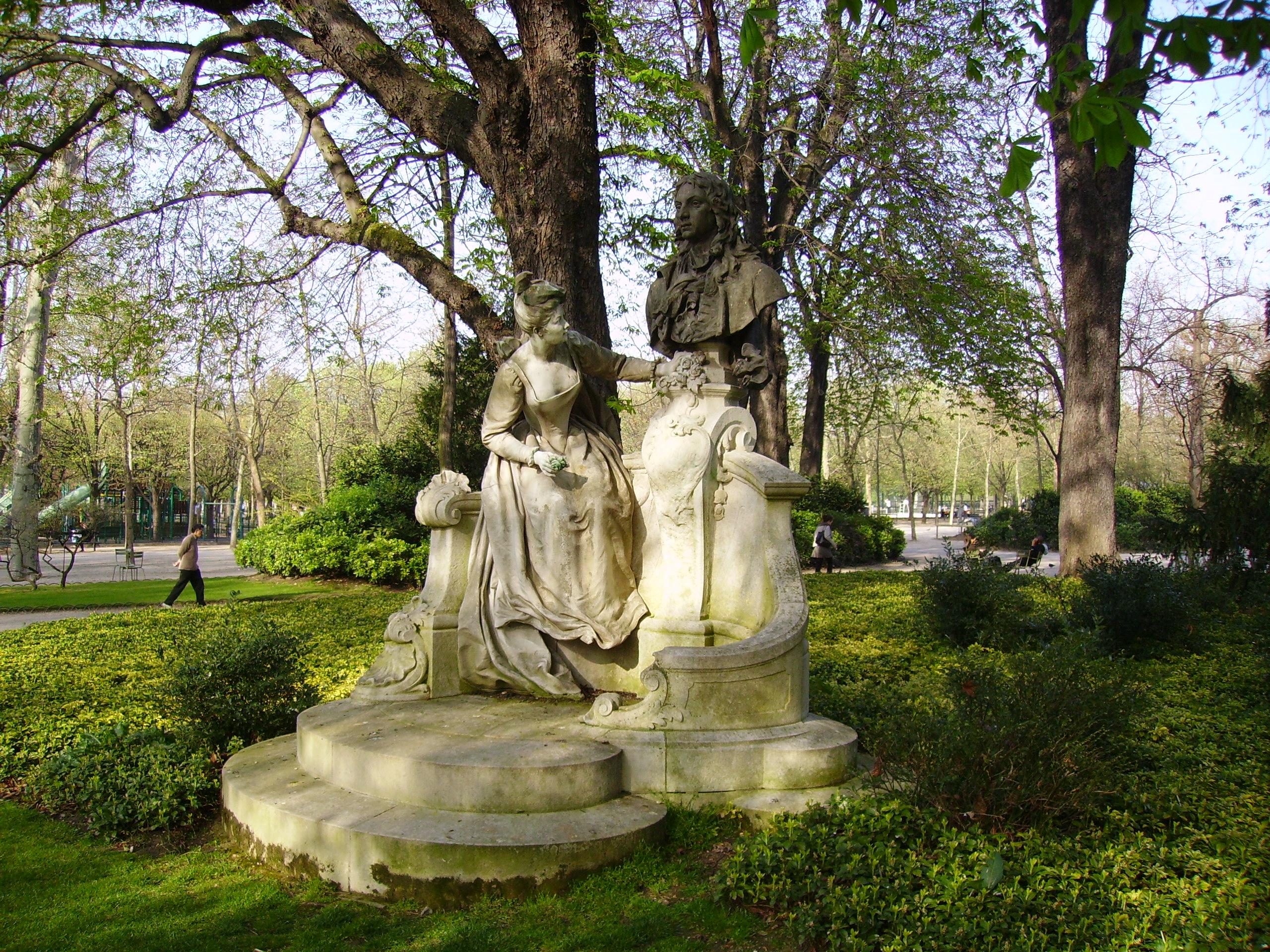 File Henri Désiré Gauquié Monument  Watteau Jardin du Luxembourg