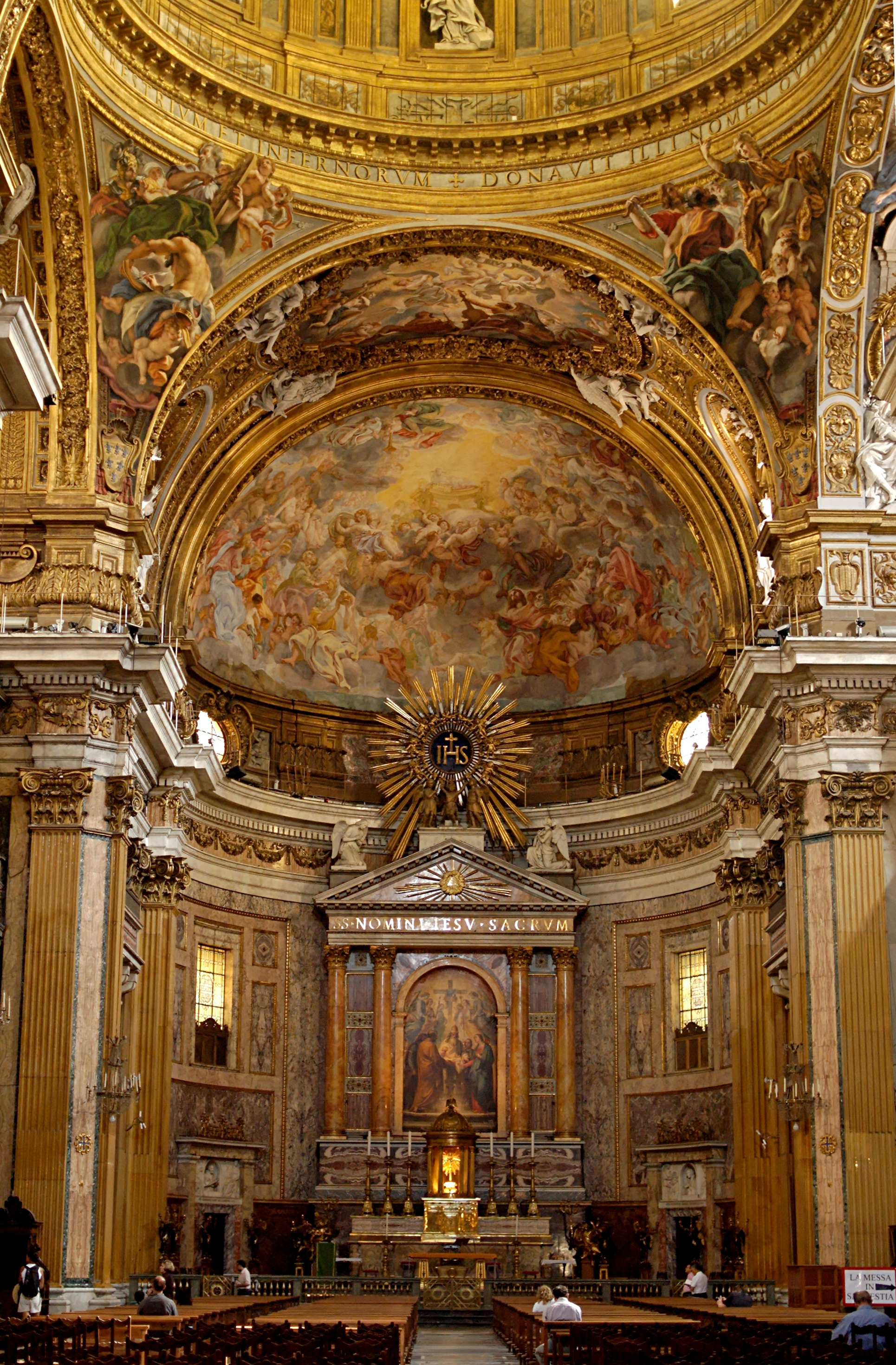 File Interior Gesu Rome Wikimedia mons