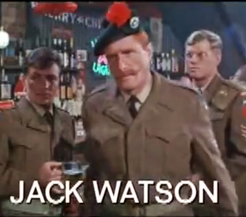 Watson in the trailer for ''The Devil's Brigade'' (1968)
