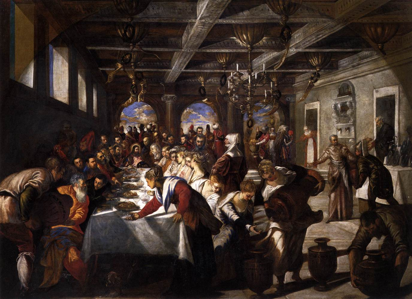 File Jacopo Tintoretto Marriage At Cana Wga22470 Jpg