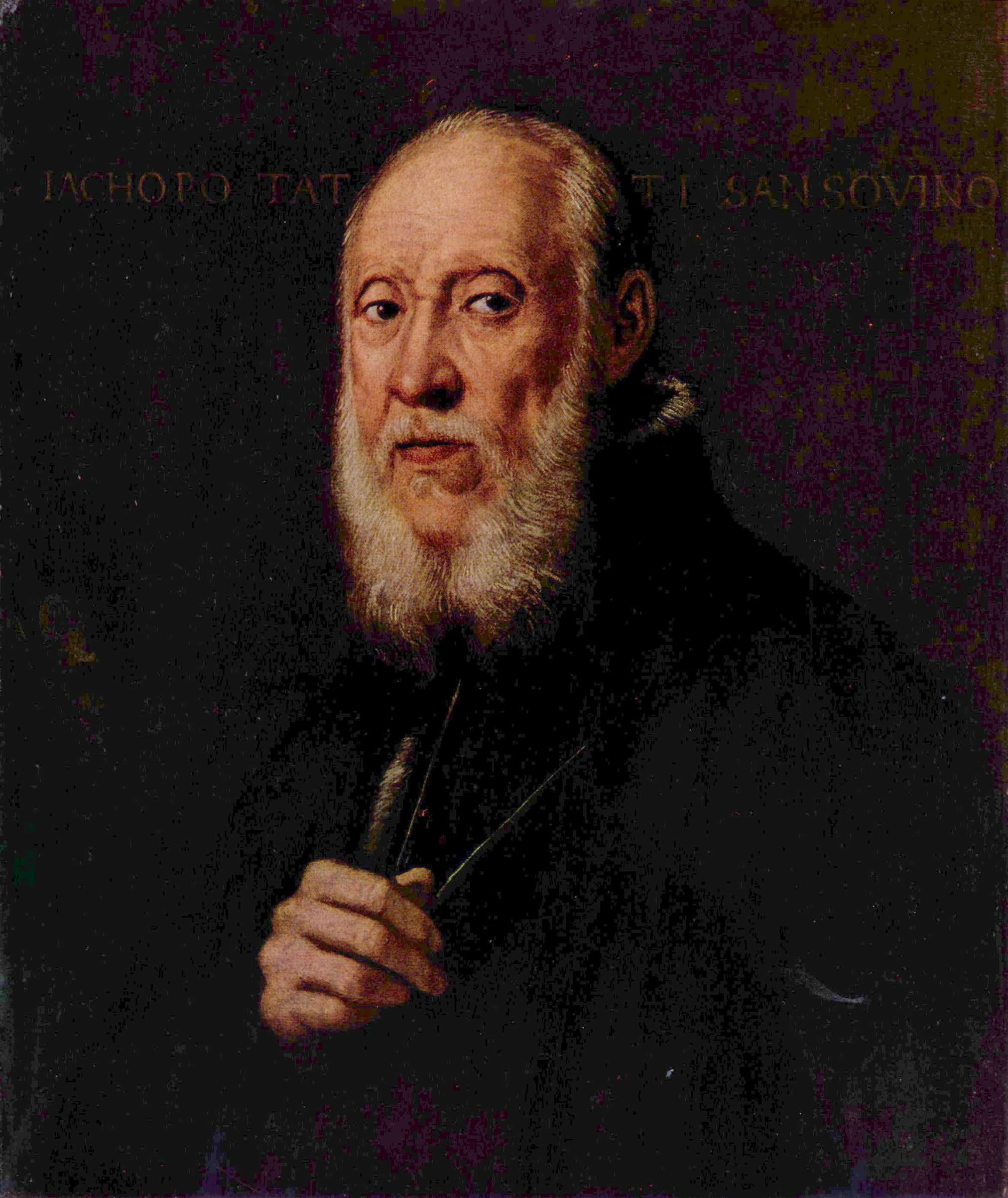 Jacopo Sansovino (1486-1570) - the sculptor and architect of the High Renaissance, a portrait by Tintoretto.