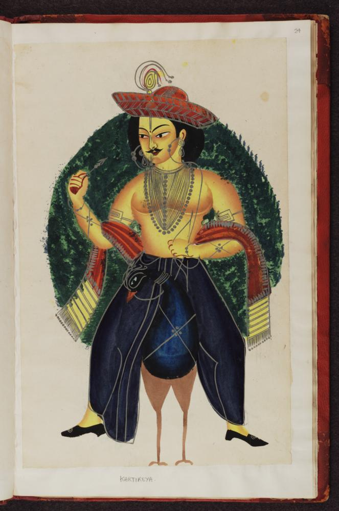 Kalighat pictures Indian gods f.24.jpg