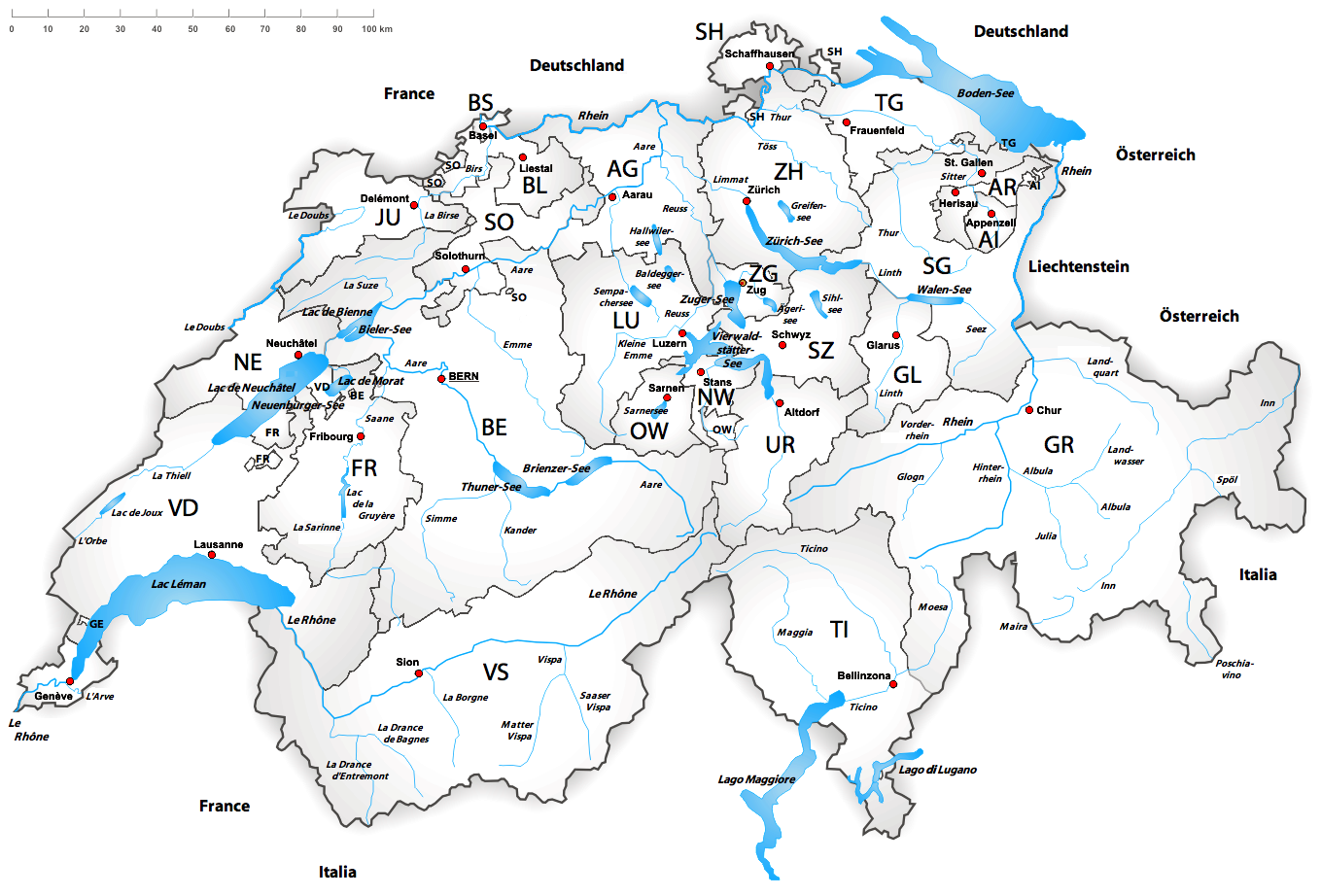 Liste der grössten Seen in der Schweiz - Wikiwand