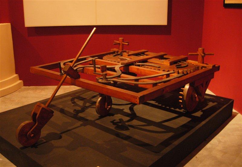 Self Propelled Cart >> File Leonardo Da Vinci Self Propelled Cart Jpg Wikimedia Commons