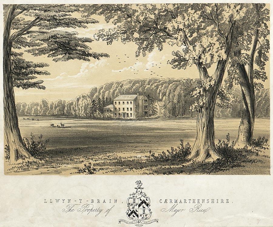 Llwyn-Y-Brain, Caermarthenshire. The Property of Major Rice