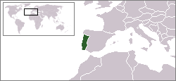 Location of Portugal