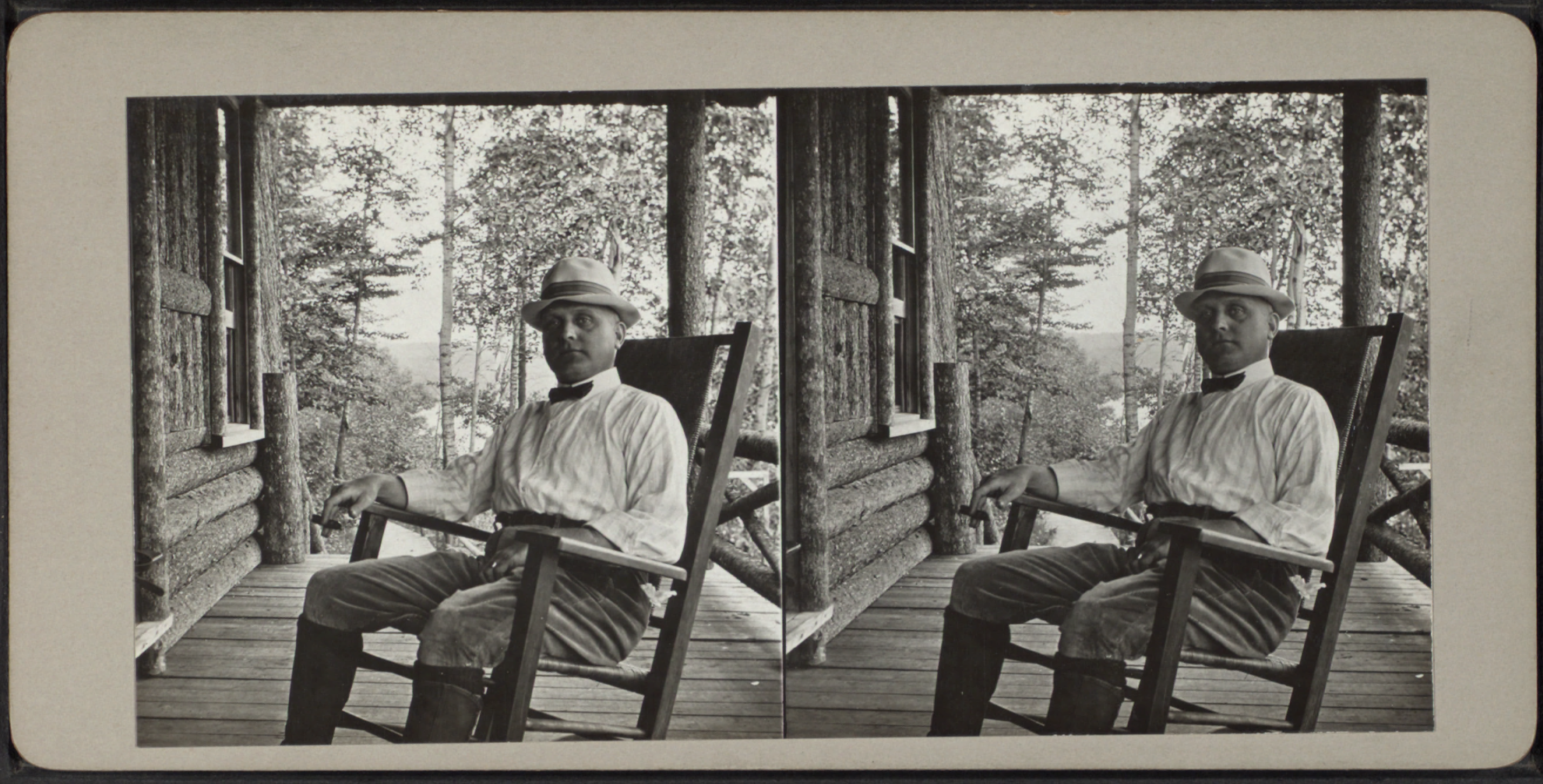 File Man In A Rocking Chair From Robert N Dennis Collection Of