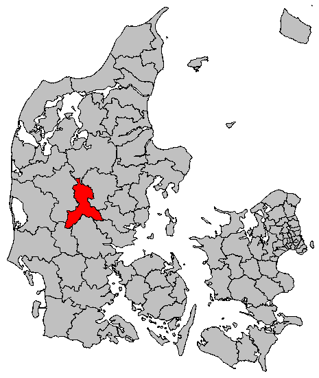 map gyms DK Ikast Brande Municipality