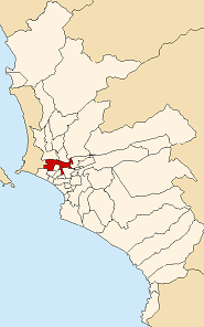 Location of the Lima District in Lima