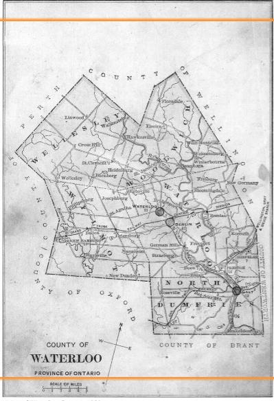Kitchener Waterloo Street Map
