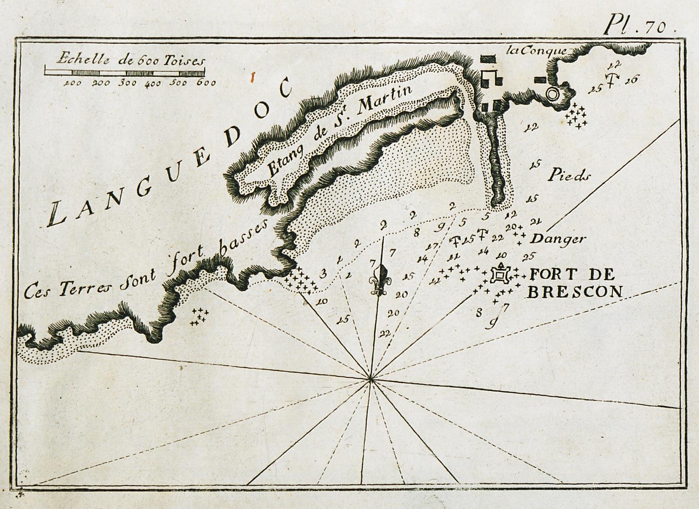 FileMap of the port of Agde in France Roux Joseph 1804jpg