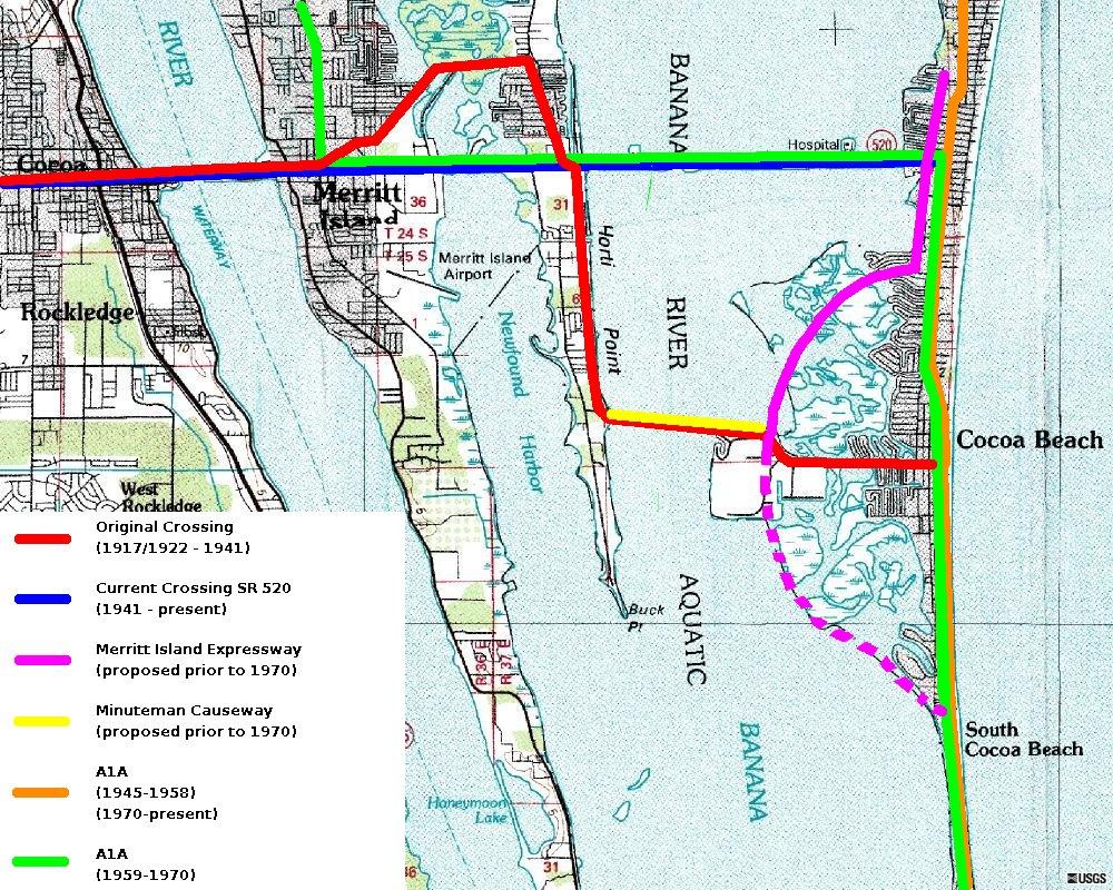 Merritt Island Florida Map.Merritt Island Causeway Wikipedia