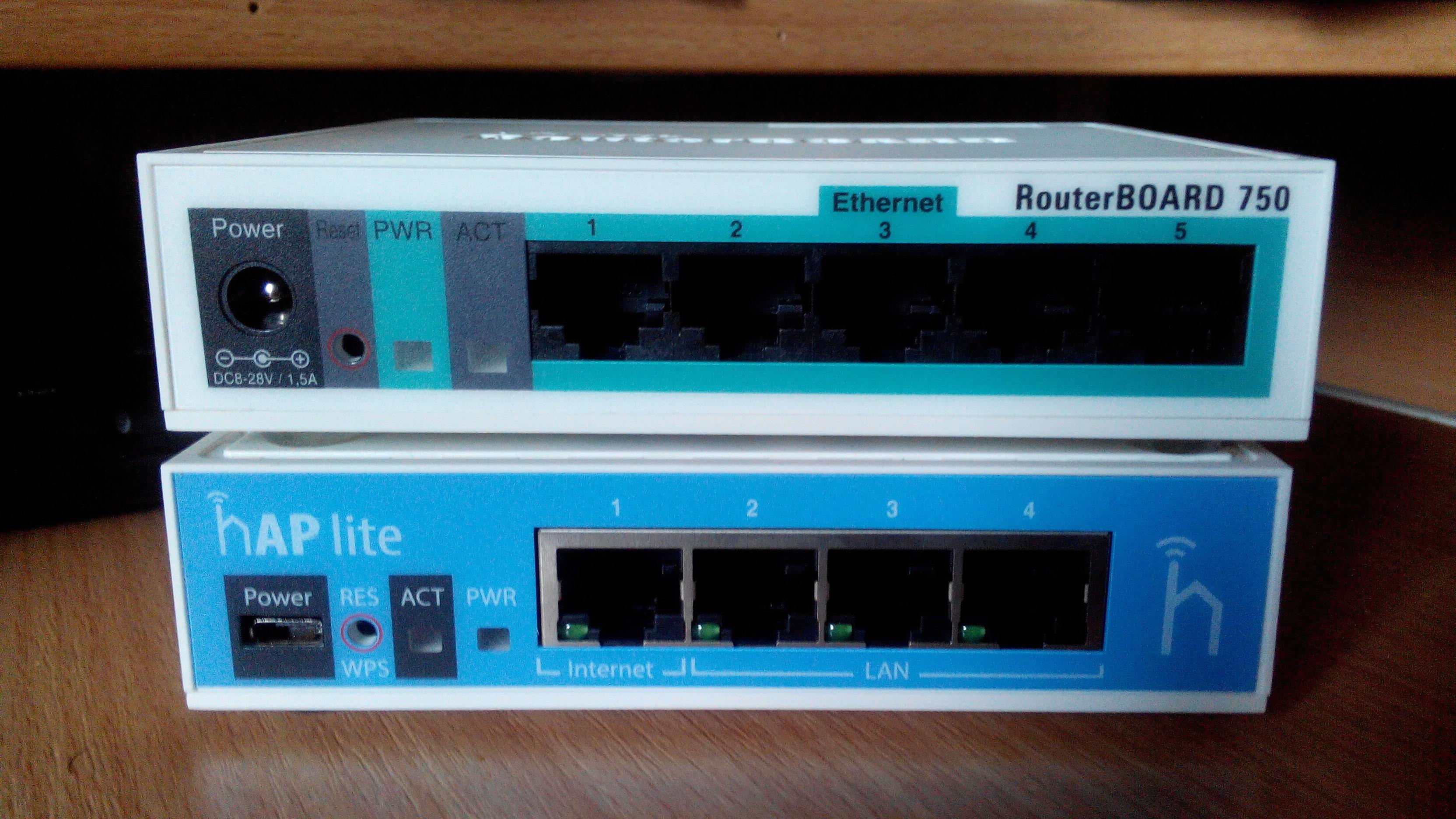 Mikrotik routerboard 750 configuration