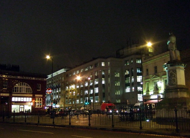 Mornington Crescent after dark - geograph.org.uk - 655167