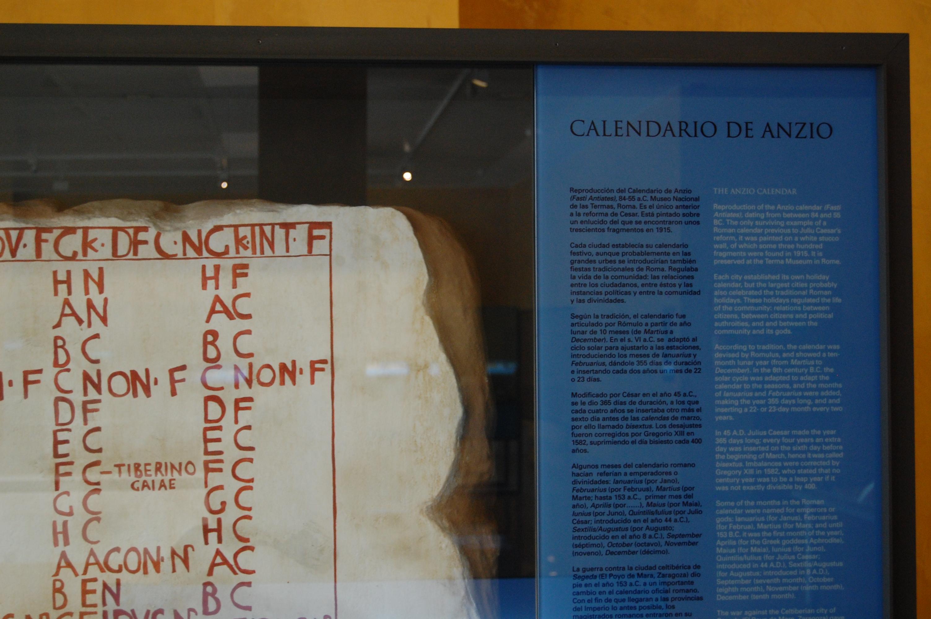 Calendario Del 2000.File Museo Del Teatro Romano De Caesaraugusta 44 Jpg