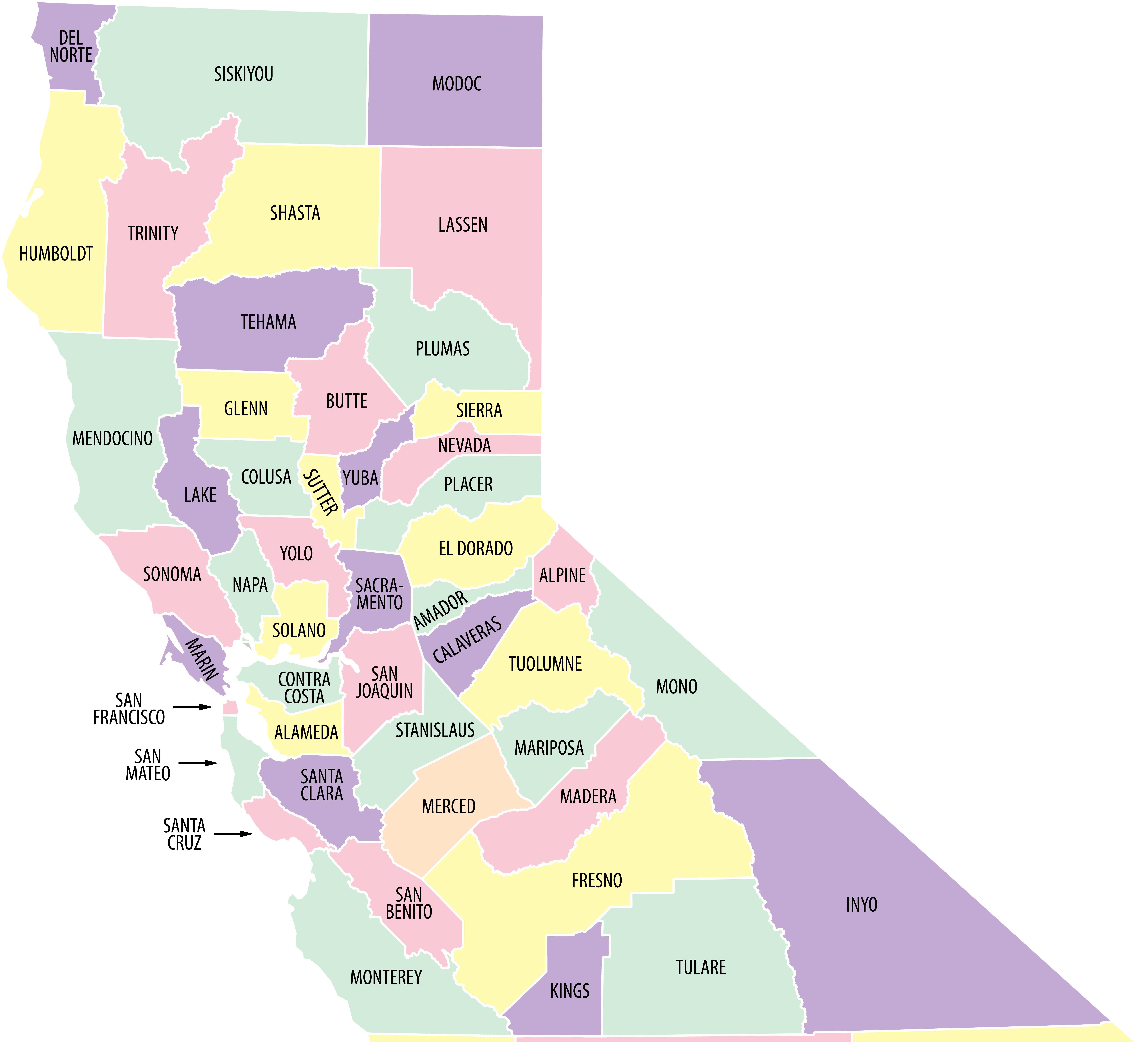 Nor Cal Map on