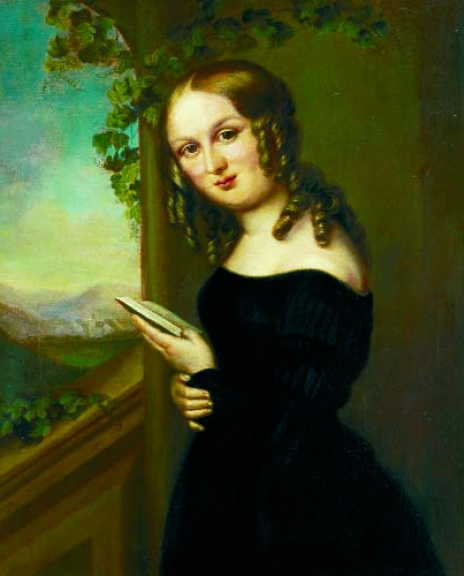 Ottilie Wildermuth as a young woman - portrait by Sophie Pilgrem, 1835