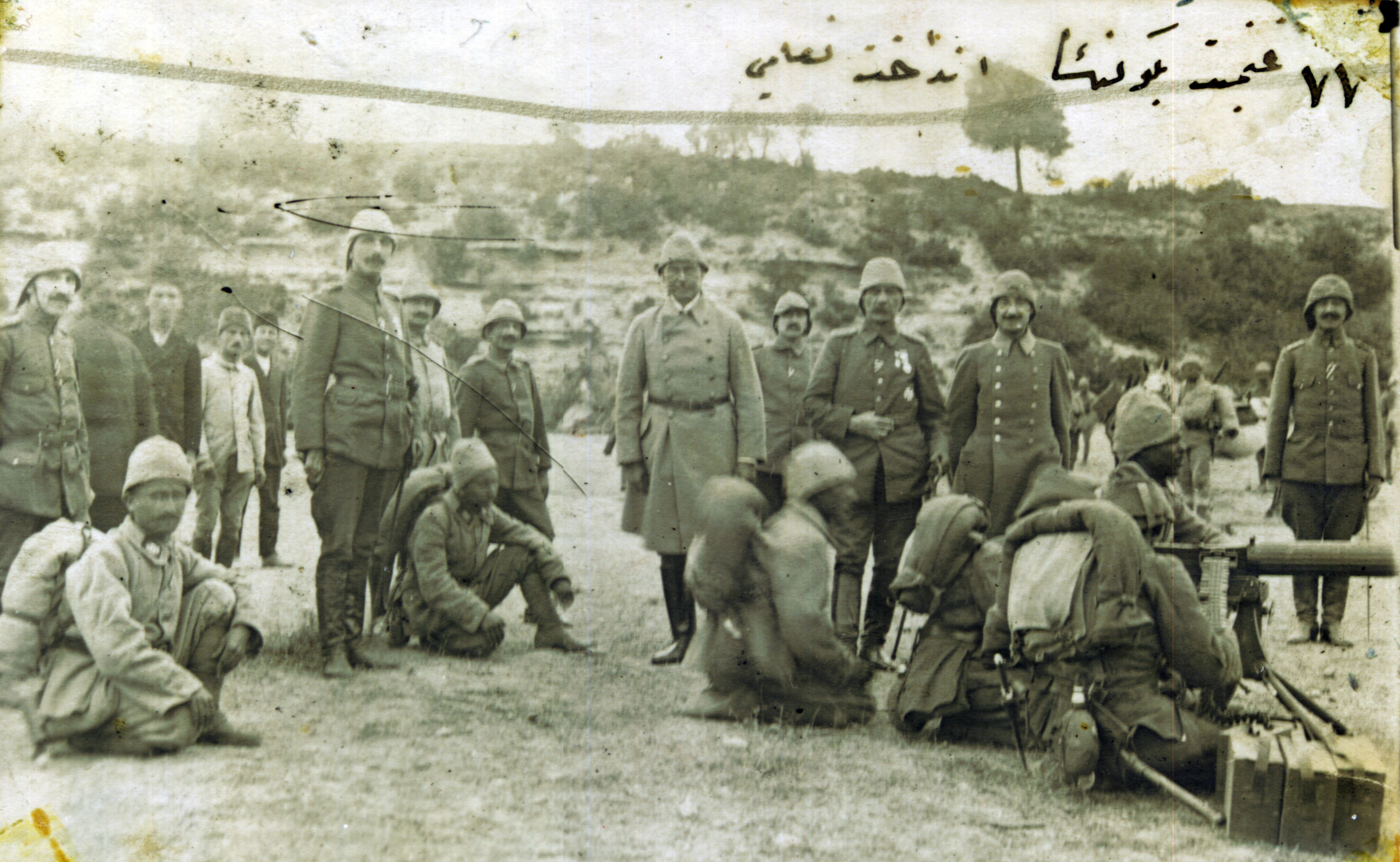 Description Ottoman soldiers testing captured weapons jpgOttoman Empire Ww1