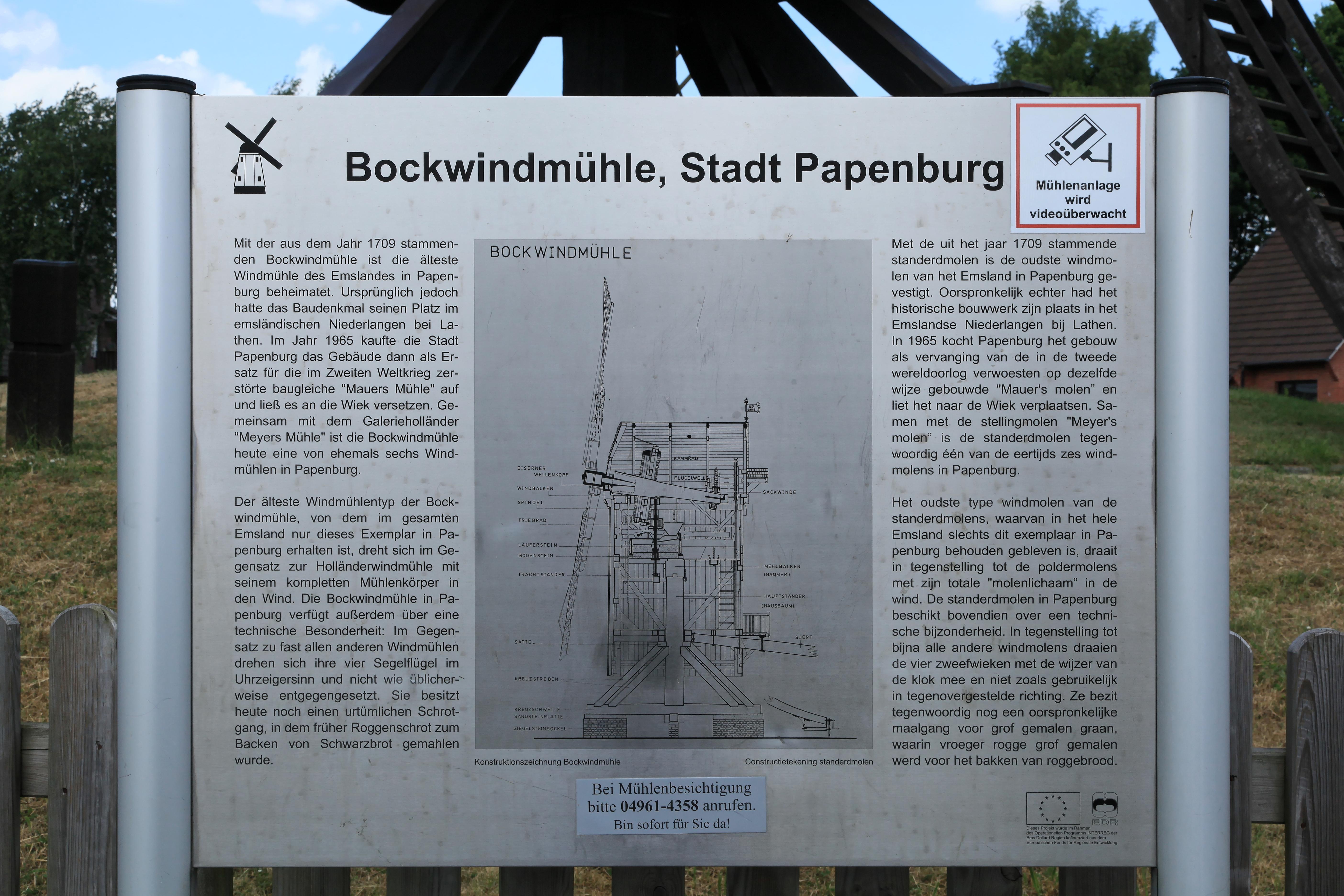 File Papenburg Fahnenweg Bockwindmuhle Dmt 02 Ies Jpg