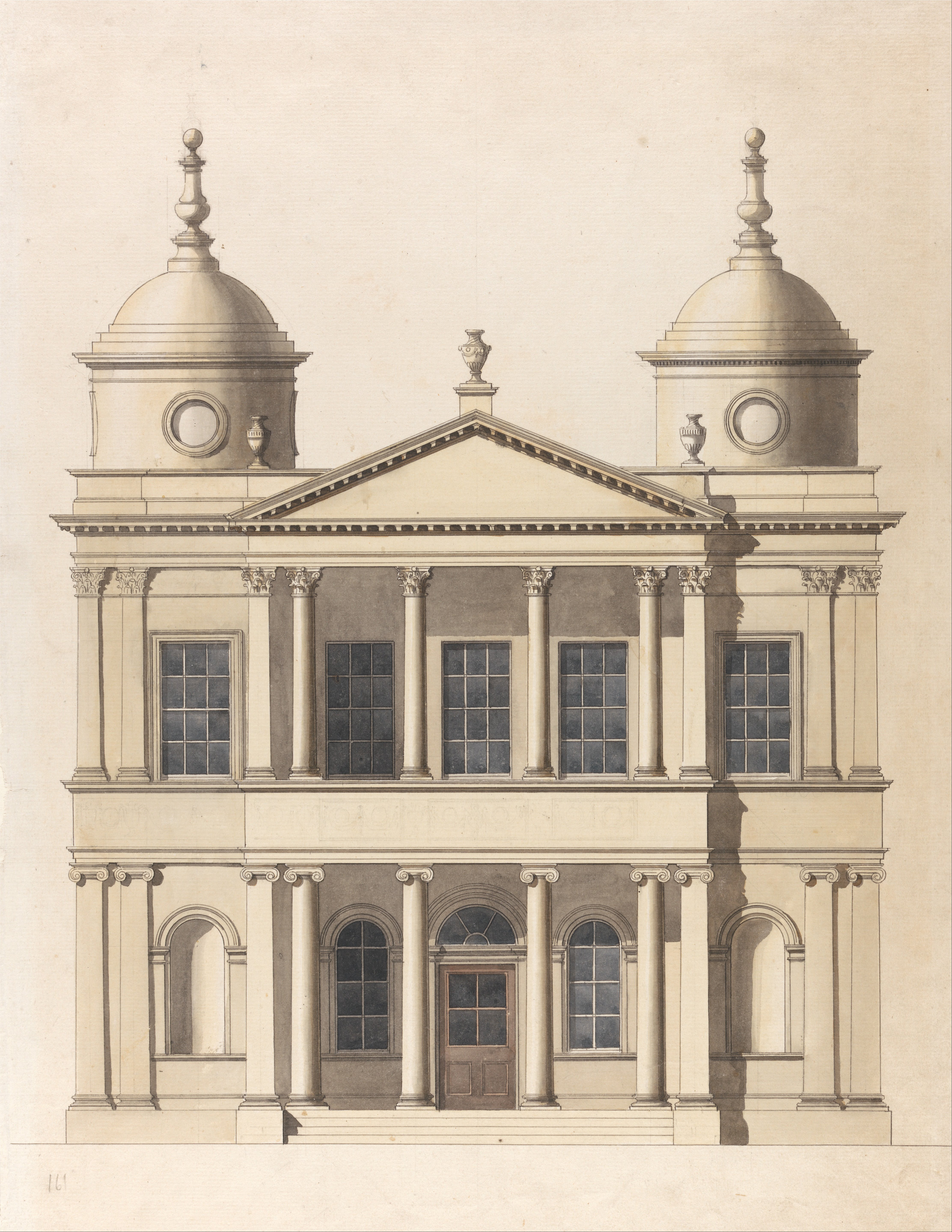 File Paul Sandby Design For A Church Elevation Of West