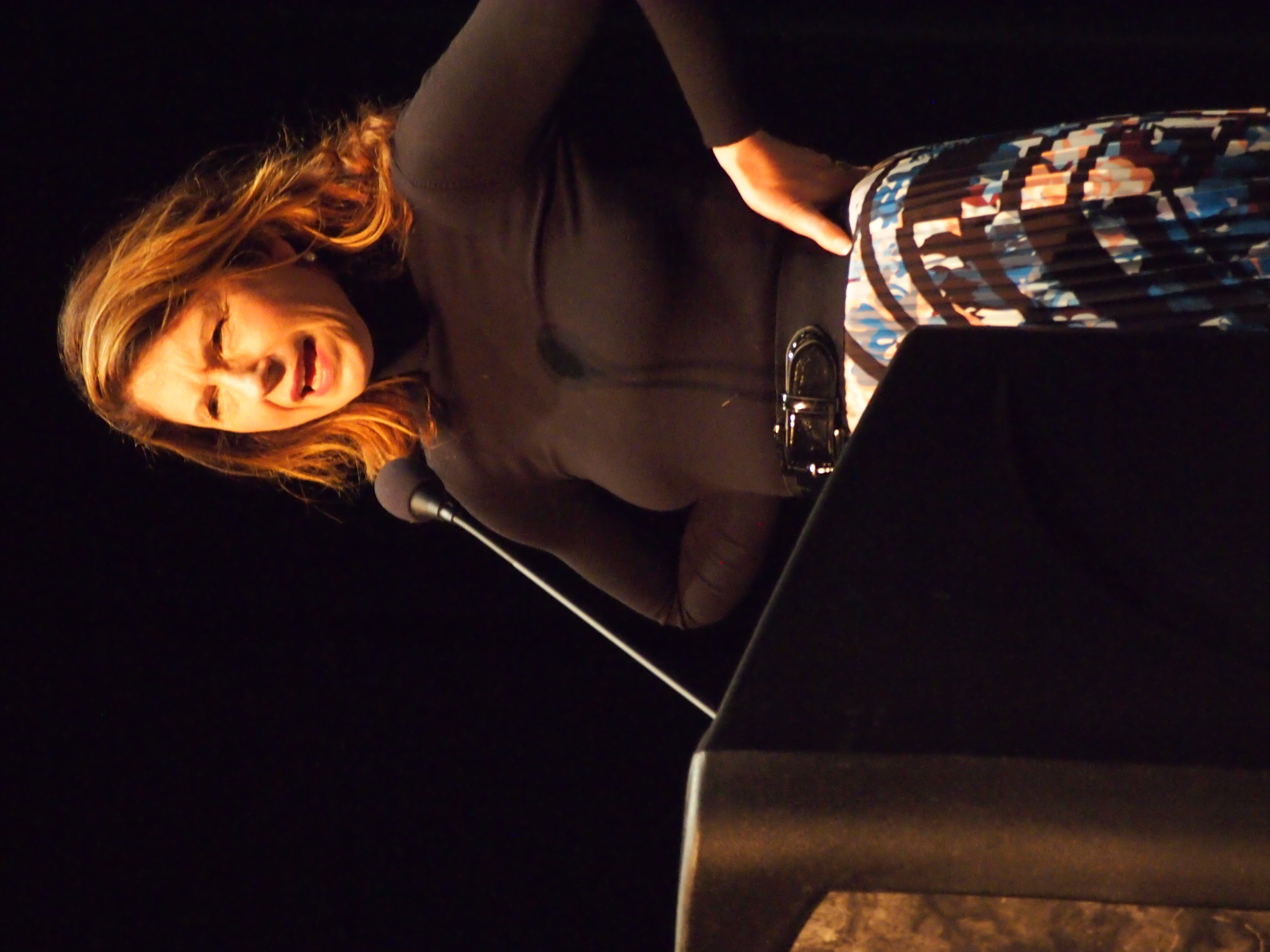 Portrait of Paula McClain reading at Fall for the Book