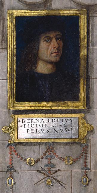 Self-portrait in the [[Baglioni Chapel]].