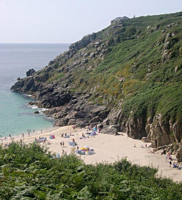 Porthcurno Beach wikimedia image