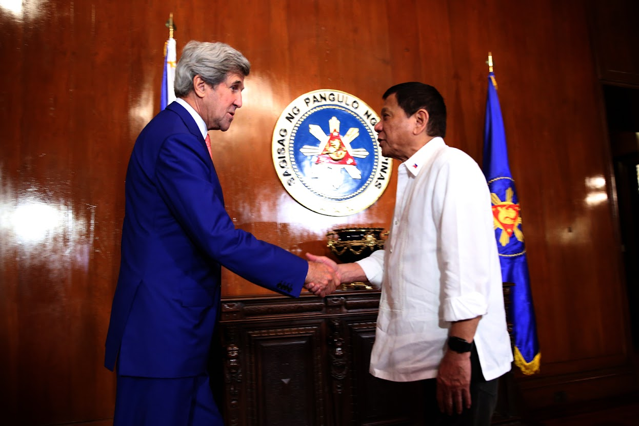 Duterte meeting with John Kerry - July 2016