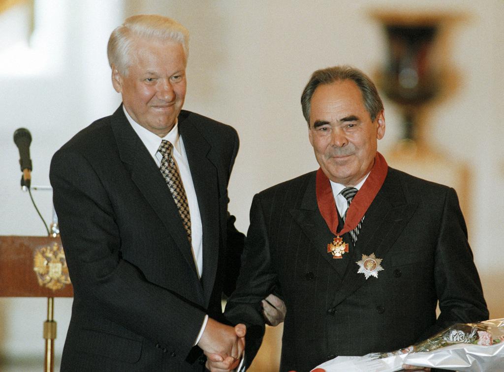 Mintimer Shaimiev FileRIAN archive 36630 President Boris Yeltsin and Mintimer
