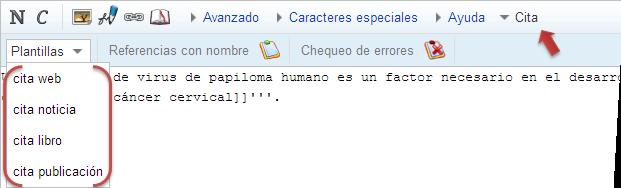Citas web en ingles