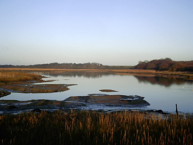 River Yar at dusk - geograph.org.uk - 582642