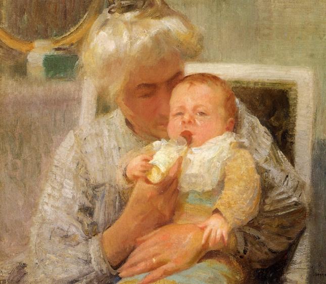 File:Robert Vonnoh - The Baby's Bottle.jpg