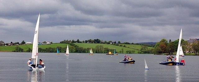 Sailing on Bardowie Loch - geograph.org.uk - 235207
