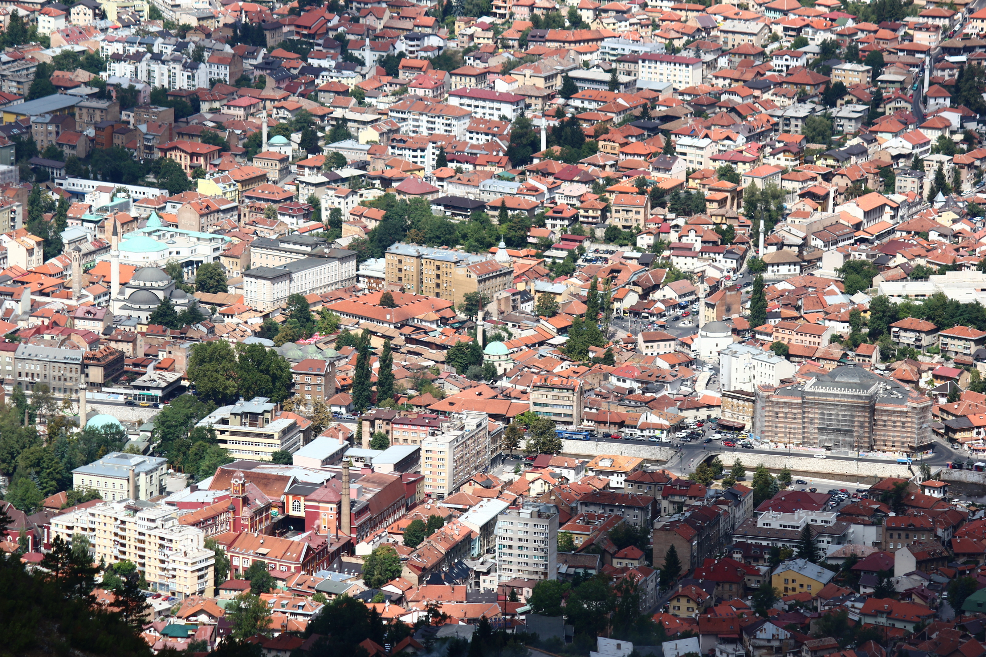 File sarajevo city center from trebevic jpg wikimedia commons