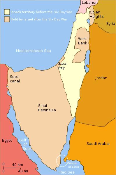 Ganancias territoriales de Israel en la Guerra de los Seis Días (1967)