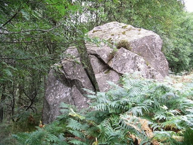 Split Boulder, Glen Finglas - geograph.org.uk - 55335
