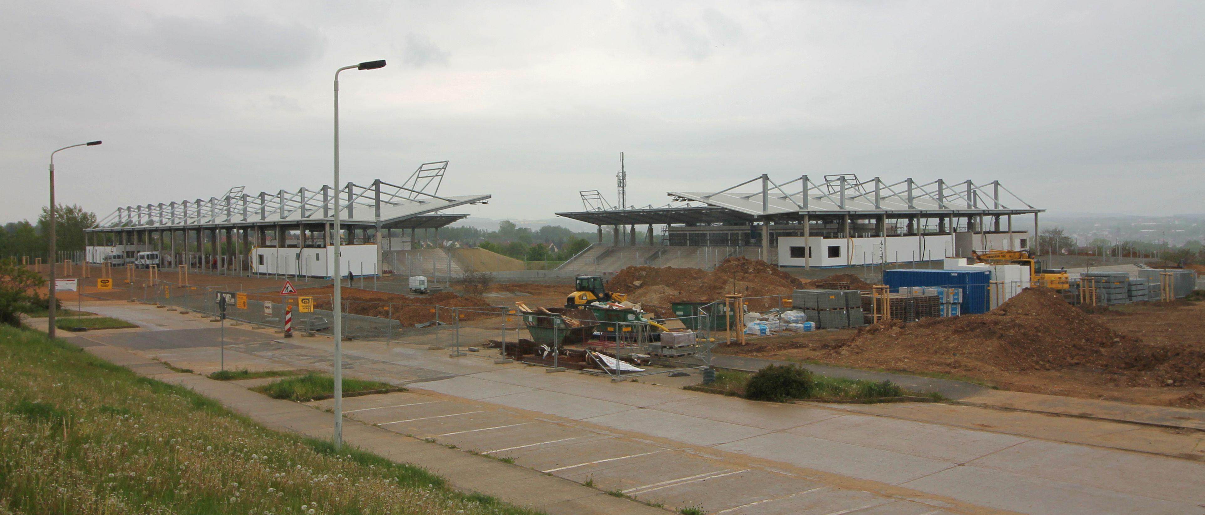 Das Stadion während der Bauphase (Mai 2016)