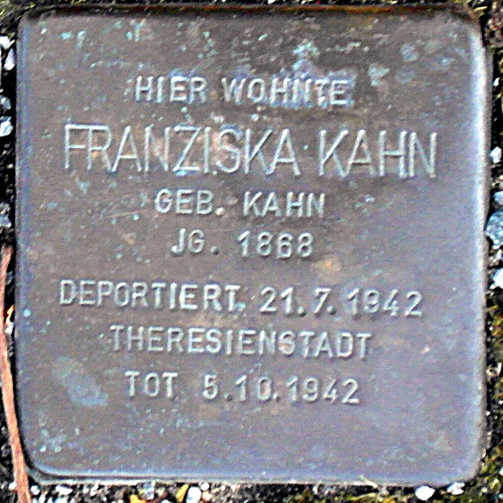 Stolperstein Bad Nenndorf Hauptstraße 27 Franziska Kahn