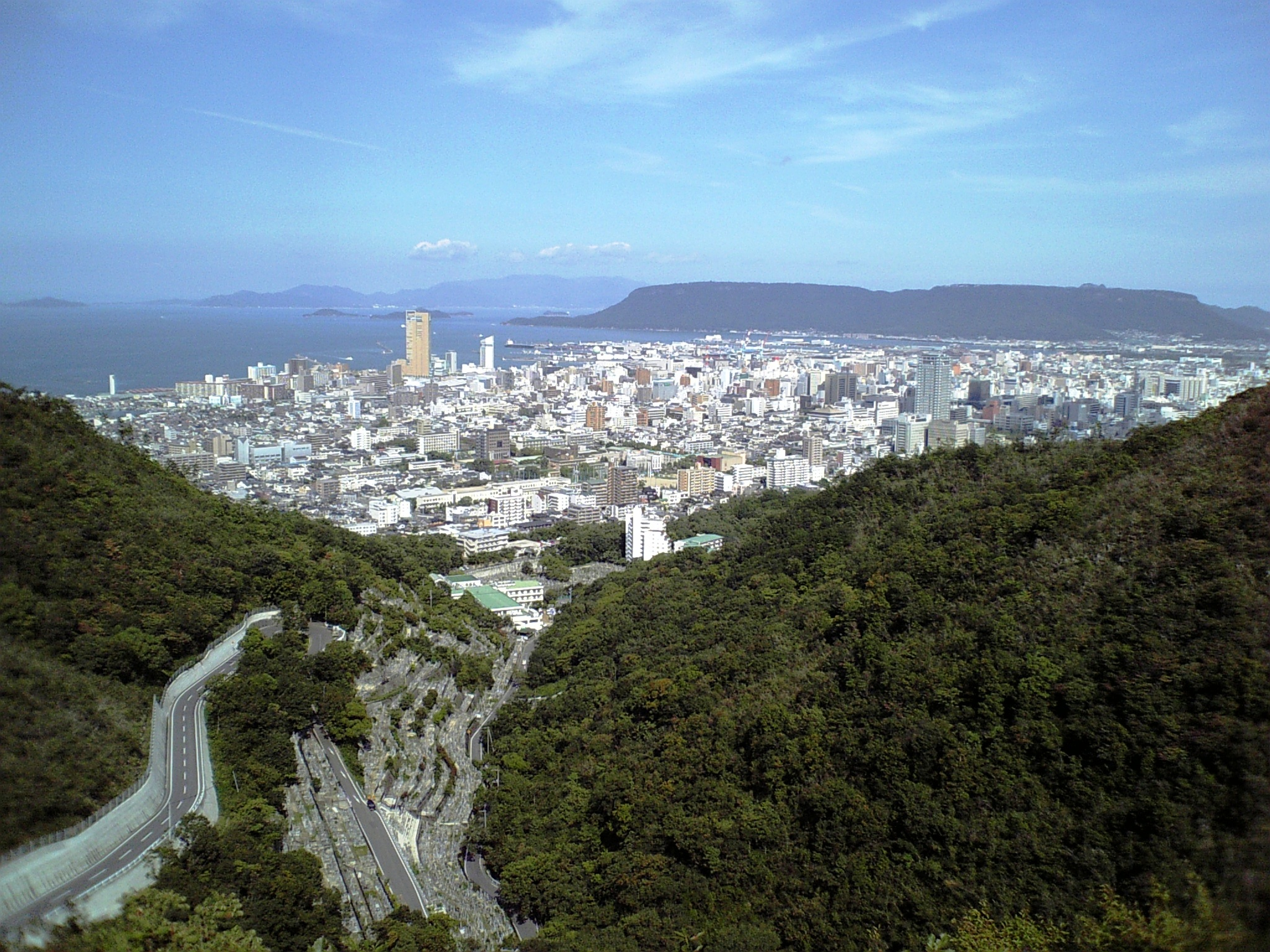 Takamatsu Japan  city photos gallery : Takamatsu from Mineyama Wikimedia Commons