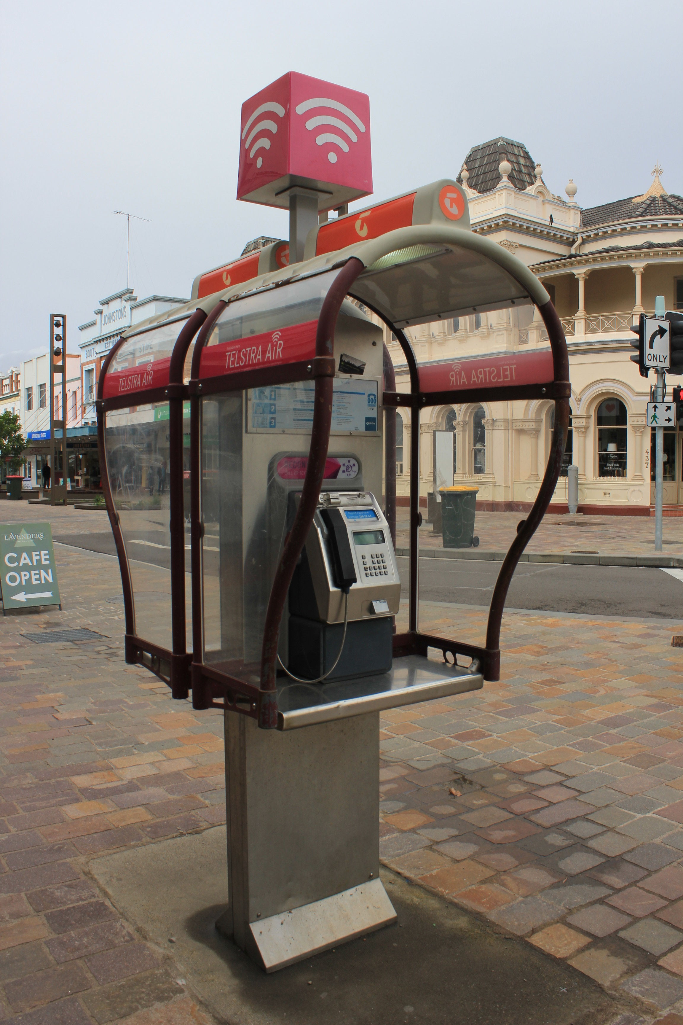 Telephone booth wikipedia a telstra payphone booth in australia that also serves as a wi fi hotspot to access the internet biocorpaavc Images