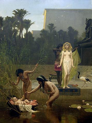 Нахождение Моисея. Ф. Гудолл, 1862