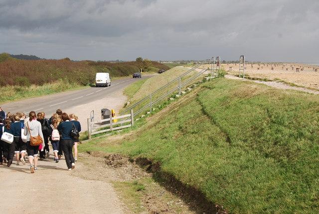 The Sea front Embankment, Pett Levels - geograph.org.uk - 1054419