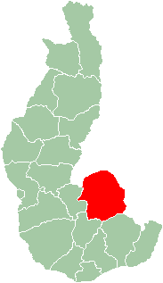 Map of former Toliara Province showing the location of Betroka (red).