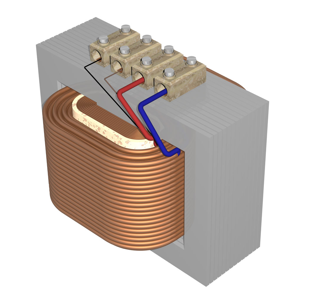 Transformator on coil diagram