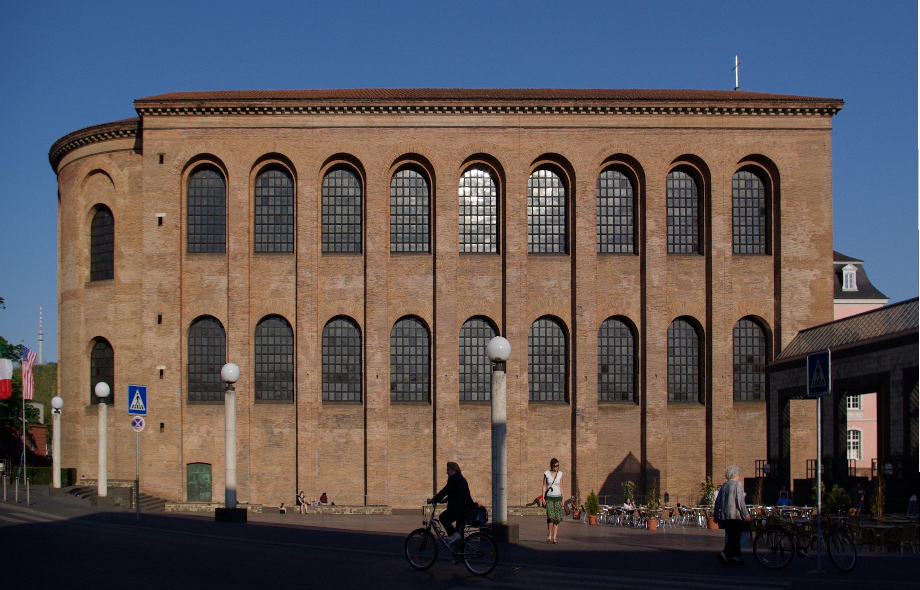 Konstantinbasilikka in Trier. Quelle: Wikipedia/Urheber Berthold Werner