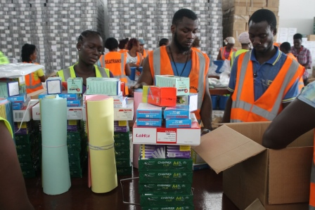 USAID, UNICEF, & Minister of Education Observe Learning Kit Distribution