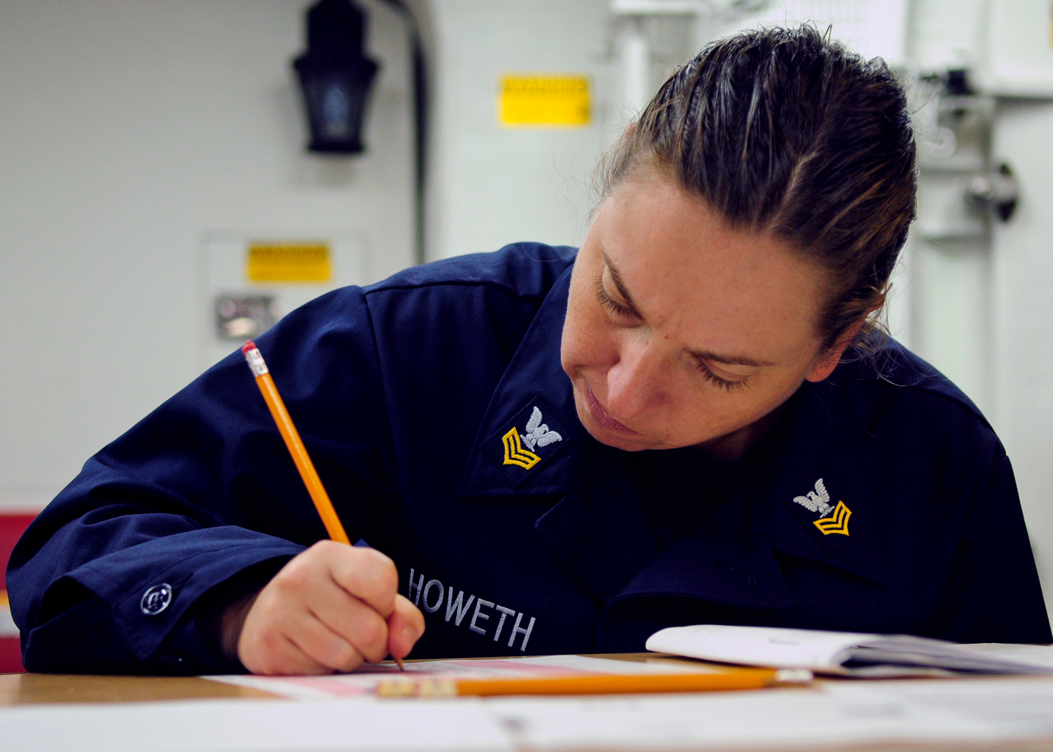 File:US Navy 120119-N-ZF681-253 Yeoman 1st Class Anna Howeth takes ...